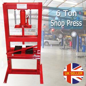 6 Ton Hydraulic Workshop Shop Press Floor Standing Industrial Bench Heavy Duty
