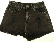 New Pacsun Mom Short Sz 1 Bullhead Black Distressed Coachella Festival Shorts