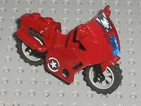 Moto LEGO Marvel Super Heroes Motorcycle ref 52035 / Set 6865 Captain America