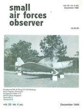 SMALL AIR FORCES OBSERVER V23 N4 RNZAF SINGAPORE_YUGOSLAV HURRICANE_MACCHI M.18_