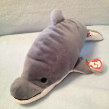 Ty Beanie Pillow Pals plush Glide the Dolphin retired new with tag