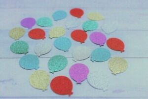 50 SPARKLY BALLOONS CARD MAKING PAPERCRAFT EMBELLISHMENTS SCRAPBOOK 2.5cm