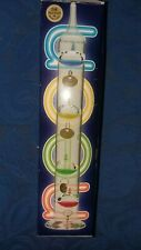 VINTAGE GALILEO NEON THERMOMETER 24 K GOLD PLATE MEDALLIONS ORIG BOX NOS