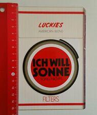 Aufkleber/Sticker: Lucky Strike ich will Sonne sonst nichts (210516145)