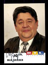 Max Grießer RTL Autogrammkarte Original Signiert # BC 105275