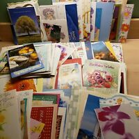 Lot Used Greeting Card Fronts 250 + All Occasion Craft Scrapbook Flowers Easter