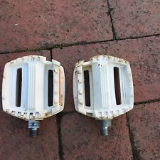 """Vintage Old School 80's White Shimano PD-S300 BMX Freestyle Pedals -1/2"""""""
