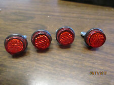 License Plate Red Reflector Fasteners For Motorcycle Or Car 4 Pack