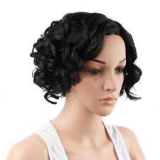 Afro Perruque avec hairnet sans colle court Boucles  Front Wigs pour TY1