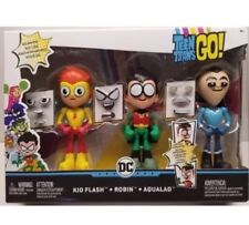 DC Teen Titans Go! Robin Kid Flash AQUALAD FACE-SWAPPERS Action Figures 2018 New