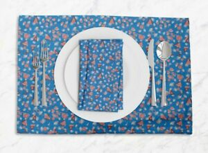 S4Sassy Circle & Triangle Geometric Tablemats With Napkins set-GMD-584B