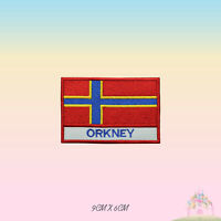 ORKNEY UK County Flag With Name Embroidered Iron On Patch Sew On Badge