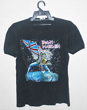 VINTAGE 80's 1983 IRON MAIDEN BEAST ON THE ROAD ROCK METAL TOUR CONCERT T-SHIRT