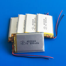 5 pcs 3.7V 600mAh 403048 LiPo Battery For MP3 MP4 DVD GPS Headphone Recorder PSP