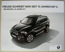 Prospekt brochure BMW X5 E70 EDITION 10 JAHRE xDrive 30i 48i 30d 35d 2009 2010
