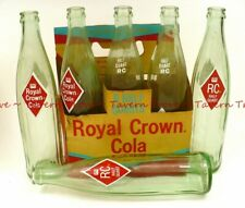 RARE 1960 ROYAL CROWN COLA 16oz 6-pack pak carrier with ACL Bottles Tavern Trove