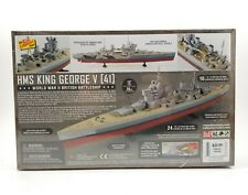 "Lindberg HMS King George V 41 British Battleship 1:750 Scale Model Kit 12"" New"