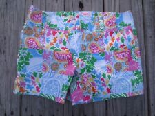 Lilly Pulitzer ~ Women's Old School Print Shorts ~ Size 0