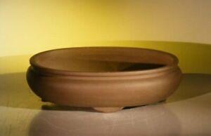 Tan Unglazed Ceramic Bonsai Pot - Oval 14.125 x 11.0 x 4.0