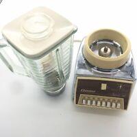 RETRO Osterizer Imperial VIII Glass Chrome Blender Model 542H Tan Yellow Vintage