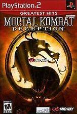 Mortal Kombat: Deception Black Label PlayStation 2 Ps2 Complete