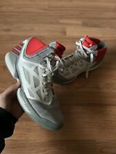 Adidas AdiZero 2.5 Grey Red White Derrick Rose MVP Basketball Shoes Size 11.5
