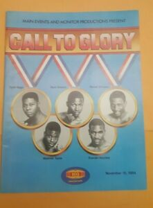 """""""Call To Glory"""" 1984 Boxing Program. Holyfield, Whitaker, Taylor All Debut."""
