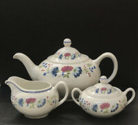 Vintage BHS PRIORY TABLEWARE TEAPOT Sugar Bowl Creamer Made In BRITAIN New!