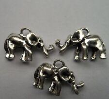 10 pcs Tibetan silver Metal alloy elephant charms pendant 15x22mm