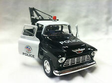 Kinsmart 1955 Chevy Police Tow Truck 1/32nd Pull-Back Action