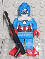 LEGO Marvel Super Heroes CAPTAIN AMERICA SCUBA MINIFIGURE AUTHENTIC NEW 76048