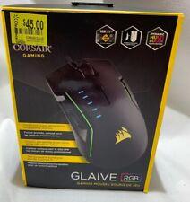 Corsair CH-9302011-NA GLAIVE RGB Wired OpticalGaming Mouse - Black