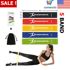 Resistance Loop Bands Set 5 Pcs Elastic Fitness Gym Exercise Workout Device New