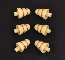 6 ALMOND Triple Flange Sleeves Ear bud tips SHURE EATFL1-6 ear inserts plug seal