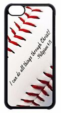 Baseball Bible Verse Quote Sport New Black/White Case Cover For Apple iPod 4 5 6