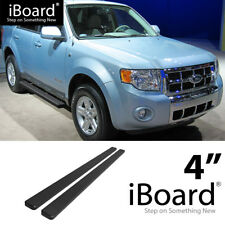 Running Board Side Step 4in Black Fit Ford Escape (Mazda Tribute) 08-12