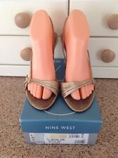 GREAT NINE WEST GOLD SHOES UK SIZE 6 WORN GOOD CONDITION