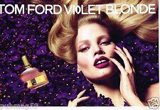 Publicité Advertising 2011 (2 pages) Parfum Tom Ford Violet Blonde