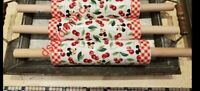 Disney Parks Mickey Mouse Retro Cherries Kitchen Rolling Pin Baking NEW