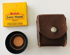 Kodak Lens Hood Orange Filter & Tiffen 608 Adaptor Ring + Leather Case & Box