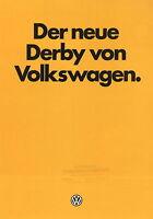 VW Derby Prospekt 9/81 1981 Autoprospekt Broschüre brochure brosjyre broschyr
