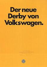 VW Derby Prospekt 9 81 Volkswagen Autoprospekt PKWs Auto Deutschland 1981