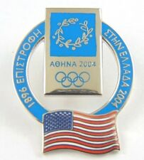 Athens Olympic Games 2004 Pin Badge - Official Country Flag By Trofe - U.S.A