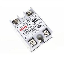 1Pcs 24V-380V 100A 250V SSR-100 Da Solid State 3-32V Dc To Ac Relay Module Ne oo