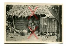 KREUZER EMDEN - orig. Foto, Eingeborener, Hütte, Sumatra, Auslandsreise 1926-28