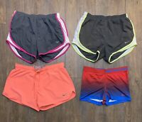 Lot of 4, Nike Dri Fit Running Athletic Shorts Lined Women's size MEDIUM