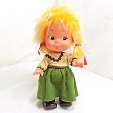 Vintage Fiba Doll Made In Italy Toy Italian Girl Blonde Hair 9""
