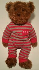 Fao Schwarz Striped Outfit Brown Teddy Bear Plush Stuffed Animal