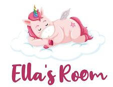 Personalised Unicorn Any Name Wall Decal 3D Art Stickers Vinyl Room Bedroom 17