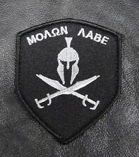 MOLON LABE SPARTAN  SHIELD TACTICAL ACU COMBAT MORALE 3 INCH HOOK PATCH